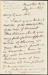 Letter from Thomas Michael Greenhow, [Newcastle upon Tyne, England], to William Lloyd Garrison, July 12 - 1877