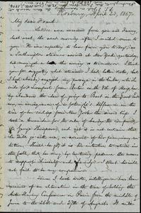Letter from William Lloyd Garrison, Roxbury, [Mass.], to Francis Jackson Garrison, April 23, 1867