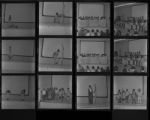 Set of negatives by Clinton Wright including Beula Jones, Necia & Brother at Sarann's, and Jo Mackey Talent Show, 1970