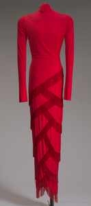 Red dress designed by Diane von Furstenberg and worn by Whitney Houston