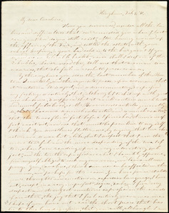 Letter from Evelina A. S. Smith, Hingham, [Mass.], to Caroline Weston, Feb. 4, [18]41