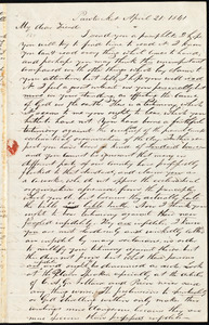 Letter from Ray Potter, Pawtucket, [R.I.], to William Lloyd Garrison, April 21. 1841