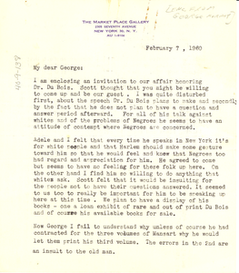 Letter from Ramona Lowe to George B. Murphy