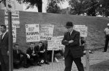 Protestors in front of the Capitol in Montgomery, Alabama, during a visit by Attorney General Robert Kennedy.