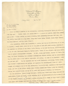Letter from Clement G. Morgan to W. E. B. Du Bois