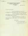 Snug Harbor Packing Company termination of employment letter for cannery worker Charles Vitter, January 23, 1937