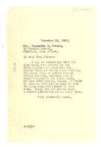 Letter from W. E. B. Du Bois to Jeannette L. Norman