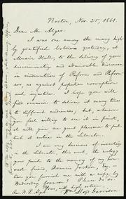 Letter to] Dear Mr. Alger [manuscript
