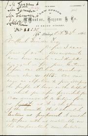 Letter to] Wm. Lloyd Garrison Esq. [manuscript