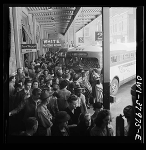 A Greyhound bus trip from Louisville, Kentucky, to Memphis, Tennessee, and the terminals. Waiting for the bus at the Memphis terminal