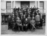 Colored YMCA, Brunswick County, Virginia, ca. 1915; William Hunton, front row, second from left; Julius Rosenwald, to Hunton's left.
