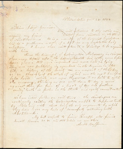 Letter from Arnold Buffum, Philadelphia, [Pennsylvania], to William Lloyd Garrison, 1834 [July] 24