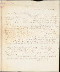 Thumbnail for Letter from Arnold Buffum, Philadelphia, [Pennsylvania], to William Lloyd Garrison, 1834 [July] 24