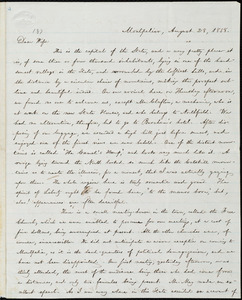 Letter from William Lloyd Garrison, Montpelier, [Vt.], to Helen Eliza Garrison, August 28, 1858