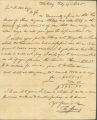 Letter from Thomas Strong in Blakeley, Alabama, to James Dellet in Claiborne, Alabama.