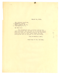 Letter from Crisis to Scurlock Studio