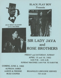 Black Play Boy Presents Sir Lady Java and Rose Brothers