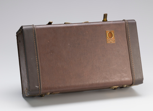 Cornet case owned by Maxine Sullivan