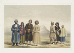 Fort of Kelat-e-Giljee, a chieftain & female of the Giljee tribe & Huzzareh peasants
