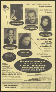 Flyer: Black Music and the Civil Rights Movement Concert