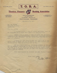 Letter: Nashville, Tennessee to Ben Stein, Macon, Georgia, 1927 Sept. 7
