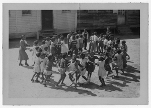 Photograph of African American schoolchildren playing, Manchester, Georgia, 1953