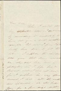 Letter, Boston, [Massachusetts], to Anne Warren Weston