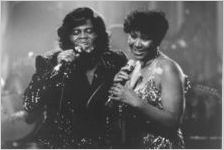 James Brown and Aretha Franklin