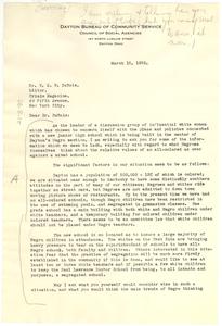 Letter from Elizabeth Nutting to W. E. B. Du Bois