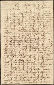 Letter from Caroline Weston, Boston, [Mass.], to Deborah Weston, Jan. 14, 1834, Wednesday eve[ning]