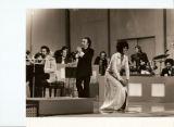 Aldemaro Romero and Nancy Wilson at first Onda Nueva Festival