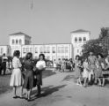 White students in front of Murphy High School in Mobile, Alabama, during an attempt to integrate the school.
