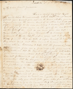 Thumbnail for Letter from Nathaniel Paul, London, [England], to William Lloyd Garrison, 1833 August 31