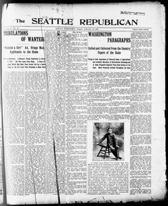 The Seattle Republican (Seattle, Wash.), Vol. 6, No. 33, Ed. 1 Friday, January 19, 1900 The Seattle Republican