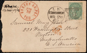 Letter from Eliza Wigham, Edinburgh, to Samuel May, 27.3.62