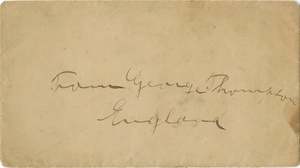 Letter to William Craft from The Committee of the London Emancipation Society, 1866