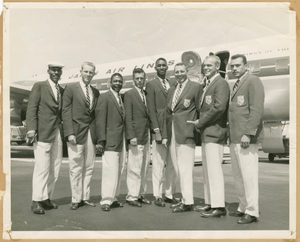 Photograph of the U.S. AAU Track and Field Team in Tokyo, Japan