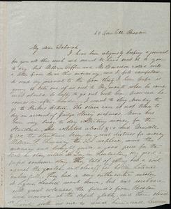 Letter from Lucia Weston, 25 Cornhill, Boston, [Mass.], to Deborah Weston, [1842 Nov.?]
