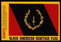 Sticker. Black American Heritage Flag