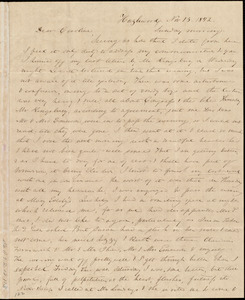 Letter from Anne Warren Weston, Hazlewood, [New Bedford, Mass.], to Caroline Weston, Nov. 13, 1842. Sunday morning