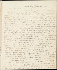 Letter from Anne Warren Weston, Duxbury, [Mass.], to Deborah Weston, June 22, 1840