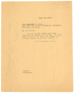 Letter from W. E. B. Du Bois to State Historical Society of Wisconsin