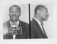 Mississippi State Sovereignty Commission photograph of Reverend Robert Wesby following his arrest for his participation in the Freedom Rides, Jackson, Mississippi, 1961 June 8
