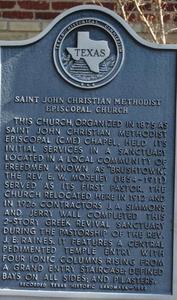 Texas Historical Commission Marker: Saint John Christian Methodist Episcopal Church