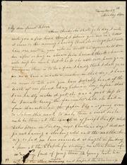 Letter to] My dear friend Debora[h] [manuscript