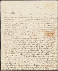 Letter from Sylvia Ann Ammidon, Hingham, [Mass.], to Deborah Weston, Sunday afternoon