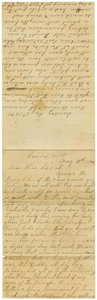 Letter from Adelitia McGee and Matilda Dodd to the Moore family and Alice McGee, May 11, 1890 Charles B. Moore Family papers, 1832-1917