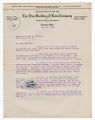 A. W. Abele letter to Warren G. Harding, May 14, 1920