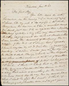 Letter from William Henry Fish, Hopedale, [Massachusetts], to Samuel May, [18]53 June 13