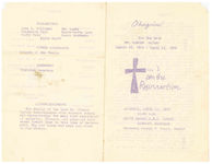 Thumbnail for Obsequies for the late Mr. Elmore Dayley, Saturday, April 17, 1976, 11:00 a.m., Grace Chapel A.M.E. Church, Detroit, Michigan, Reverend George B. Horry, pastor